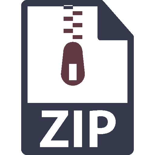 file icon for compressed zip files